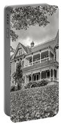 Autumn Mansion Bw Portable Battery Charger