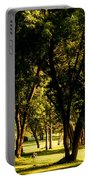 Autumn Morning Stroll Portable Battery Charger