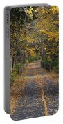 Autumn On Bike Trail  Portable Battery Charger