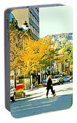 Autumn On Mount Royal Greene Avenue Westmount Near Sherbrooke October Montreal City Scene Portable Battery Charger
