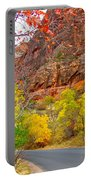 Autumn On Zion Canyon Scenic Drive In Zion National Park-utah  Portable Battery Charger