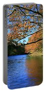 Autumn Paddle On The Quinnebaug  Portable Battery Charger