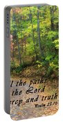 Autumn Path With Scripture Portable Battery Charger