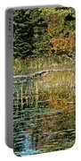 Autumn Pond Scene Portable Battery Charger