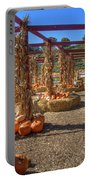 Autumn Pumpkin Patch Portable Battery Charger by Joann Vitali