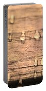 Autumn Rain On Wood Portable Battery Charger