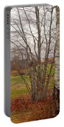 Autumn Red Field Maine  Portable Battery Charger