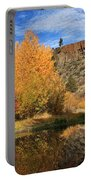 Autumn Reflections In The Susan River Canyon Portable Battery Charger