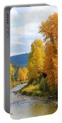 Autumn River In Montana Portable Battery Charger