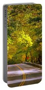 Autumn Road Portable Battery Charger by Carol Groenen