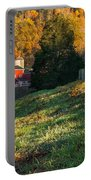 Autumn Road Morning Portable Battery Charger