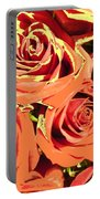 Autumn Roses On Your Wall Portable Battery Charger