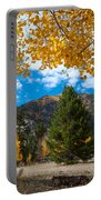 Autumn Scene Framed By Aspen Portable Battery Charger by Cascade Colors