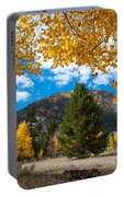 Autumn Scene Framed By Aspen Portable Battery Charger