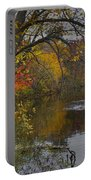 Autumn Scene Of The Flat River Portable Battery Charger
