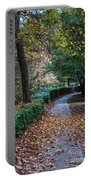 Autumn Side Walk Portable Battery Charger