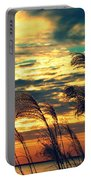 Autumn Skies Over The Ocean Portable Battery Charger