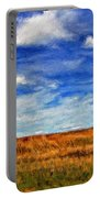 Autumn Sky Impasto Portable Battery Charger
