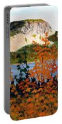 Autumn Sunset On The Hills Portable Battery Charger