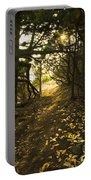 Autumn Trail In Woods Portable Battery Charger