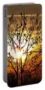 Autumn Tree In The Sunset Portable Battery Charger