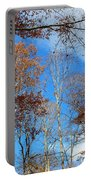 Autumn Trees And Heaven Portable Battery Charger
