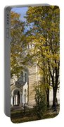 Autumn Trees In A Park Riga Latvia Portable Battery Charger