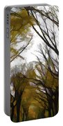 Autumn Trees Panoramic Portable Battery Charger