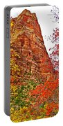 Autumn View Along Zion Canyon Scenic Drive In Zion National Park-utah Portable Battery Charger