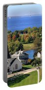 Autumn View On Mackinac Island Portable Battery Charger