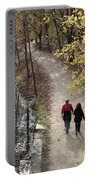 Autumn Walk On The C And O Canal Towpath Portable Battery Charger