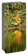Autumn Watercolor Reflections Portable Battery Charger