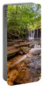 Autumn Waterfall Portable Battery Charger by Adrian Evans