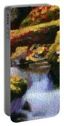 Autumn Waterfall Canvas Portable Battery Charger