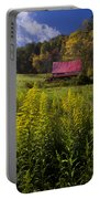 Autumn Wildflowers Portable Battery Charger by Debra and Dave Vanderlaan