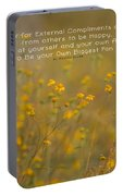 Autumn Wildflowers W Quote Portable Battery Charger