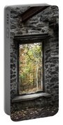 Autumn Within Cunningham Tower - Historical Ruins Portable Battery Charger by Gary Heller