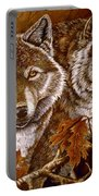 Autumn Wolves Portable Battery Charger