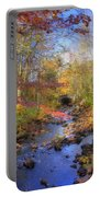 Autumn Woods Portable Battery Charger by Joann Vitali