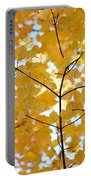 Autumn's Golden Leaves Portable Battery Charger by Jennie Marie Schell