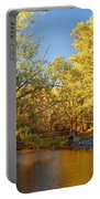 Autumn's Golden Pond Portable Battery Charger by Kim Hojnacki