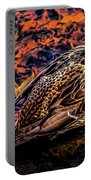 Autumns Sleepy Duck Portable Battery Charger