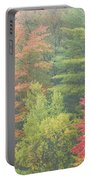 Autumntrees And Fog Portable Battery Charger