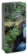 Avalanche Creek In Cedar Forest Portable Battery Charger