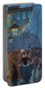 Avenue De Clichy Paris Portable Battery Charger by Louis Anquetin
