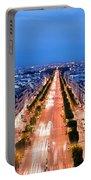 Avenue Des Champs Elysees In Paris Portable Battery Charger