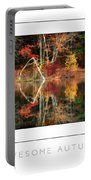 Awesome Autumn Poster Portable Battery Charger