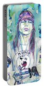 Axl Rose Portrait.1 Portable Battery Charger