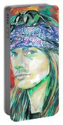 Axl Rose Portrait.2 Portable Battery Charger
