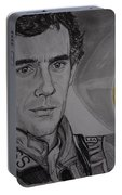 Ayrton Senna Portrait Portable Battery Charger